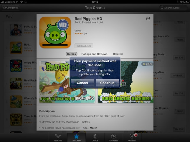 Many Indian users unable to buy apps after Apple App Store
