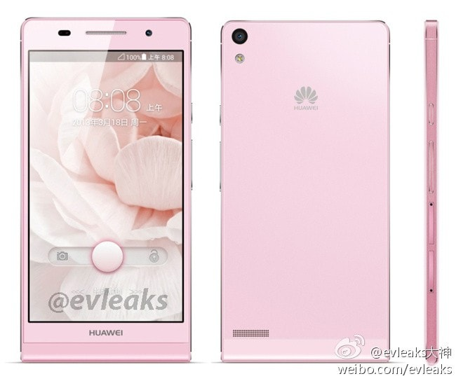 Huawei Ascend P6 photos leak, could be the world's slimmest smartphone