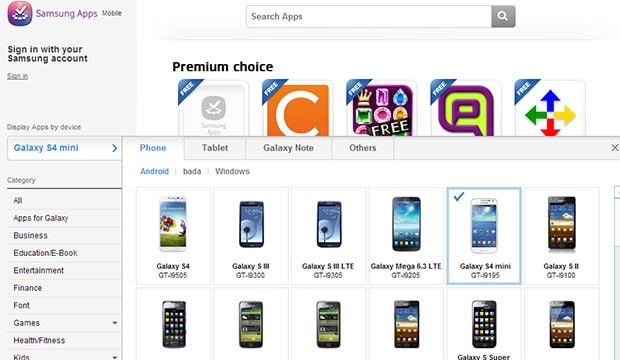 Samsung Galaxy S 4 mini spotted on company's own App store ...
