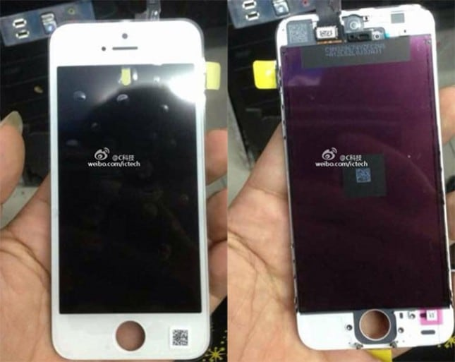 Leaked photos show front panel and innards of the low-cost iPhone