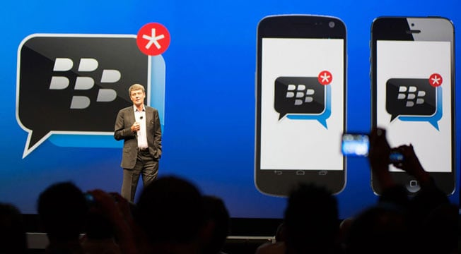 BlackBerry's BBM app rockets to No 1 on iPhone app chart | BGR India