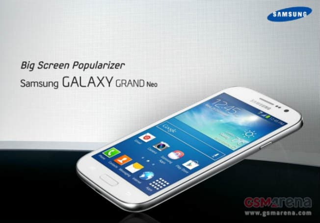 Samsung Galaxy Grand Neo specs leaked