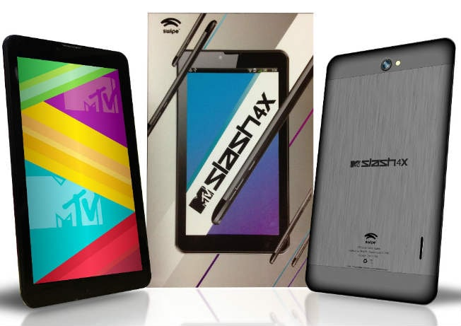 Swipe MTV Slash 4X Android tablet launched for Rs 9,999