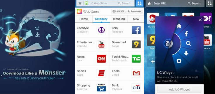 UCWeb Browser 9 5 for Android updated with faster download speed and