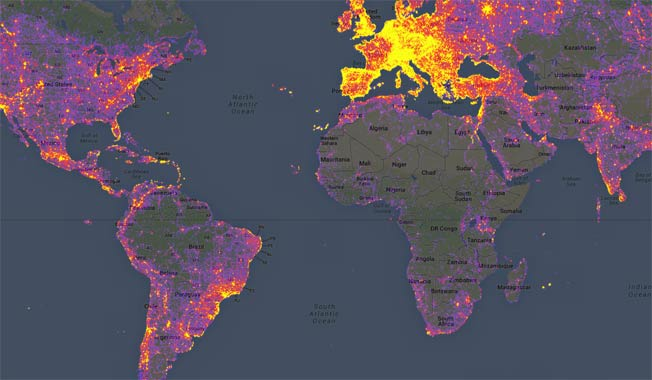 Google heat map shows the most photographed locations in the world if you are wondering which are the worlds most photographed or most checked in location googles sightsmap has the answer for you gumiabroncs Images