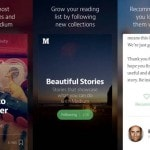 "Blogging platform Medium rolls out iPhone app for ""reading and…"
