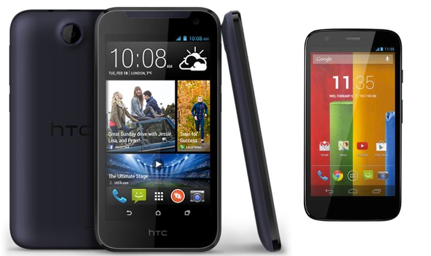 and T-cells htc desire 300 or moto g iPad not going
