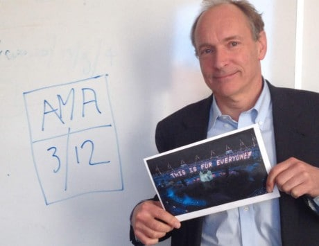 Inventor of the WWW Tim Berners-Lee is doing an AMA on its 25th anniversary