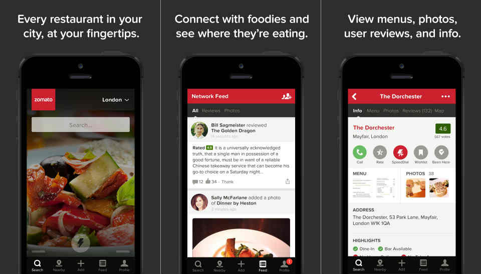 Zomato update shows restaurant reviews from your friends