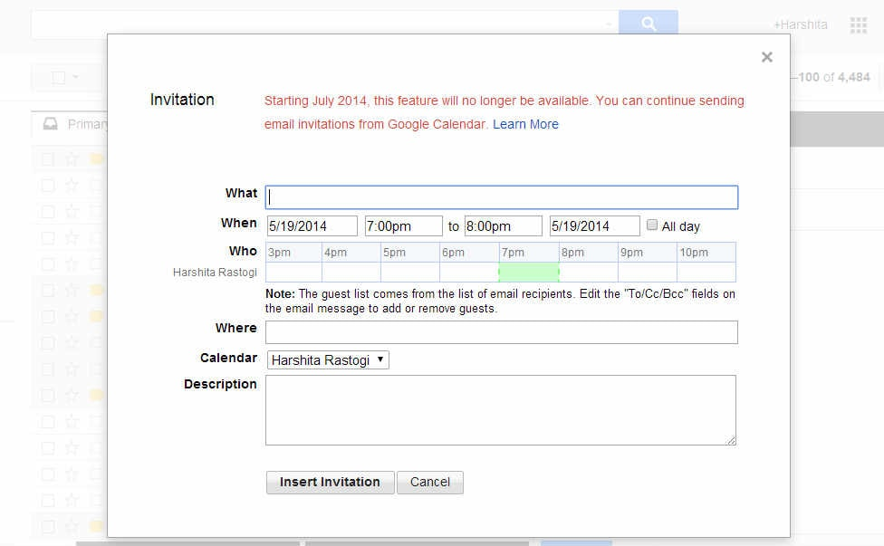 Gmail users will no longer be able to insert calendar invite within gmail users will soon not be able to insert calendar invites directly within mails as google is planning to pull the option from gmail service stopboris Images