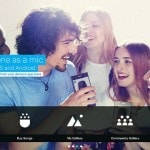 "Sing into your smartphone in console game ""SingStar"""