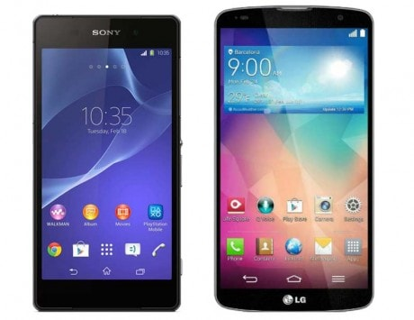 Sony Xperia Z2 vs LG G Pro 2: Specification and feature comparison