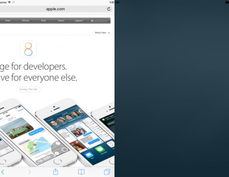 Apple's split screen feature for iPad on iOS 8 shown off in a video