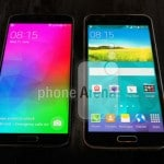 Samsung Galaxy F compared against Galaxy S5 in leaked photo…