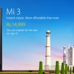 Xiaomi Mi 3 launched in India for Rs 14,999, available…