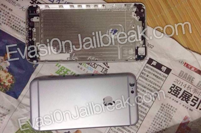 Apple iPhone 6 5.5-inch aka iPhone 6L leaked shell compared to 4.7-inch variant