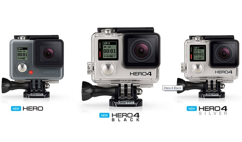 gopro introduces hero line with three new feature rich cameras at affordable price range bgr. Black Bedroom Furniture Sets. Home Design Ideas