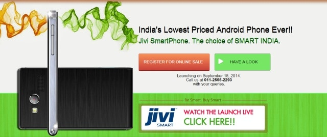 Jivi launches India's cheapest Android-based smartphone at Rs 1,999