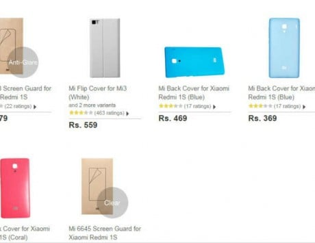 Official Xiaomi Redmi 1S back cover and screen protector now available on Flipkart, priced at Rs 469 and Rs 179 respectively