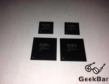 Purported photo shows 2GB RAM module for Apple iPad Air 2