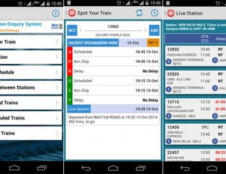National Train Enquiry System (NTES) app launched for Android devices to help keep track of trains