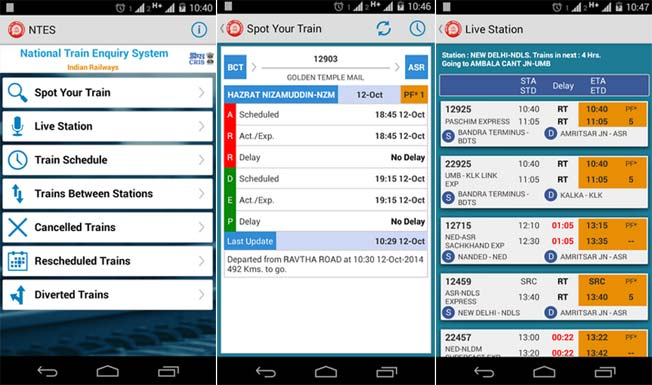 National Train Enquiry System Ntes App Launched For