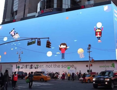 Google uses Times Square's biggest billboard to promote Android