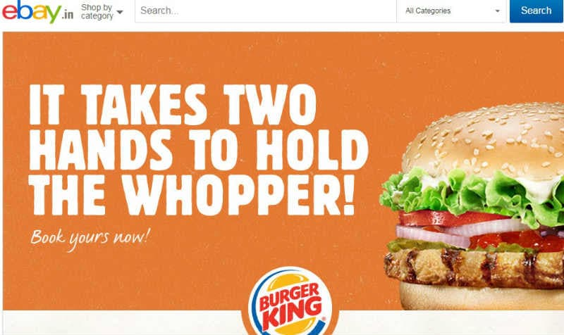 Burger King lets you pre-book a burger exclusively via eBay India for Rs 128