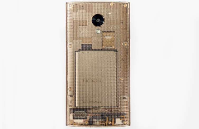 LG Fx0 is a beautiful smartphone with a transparent body, running on Firefox OS