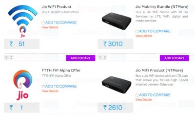 Reliance Jio Sim Card And Broadband Plans Spotted Online