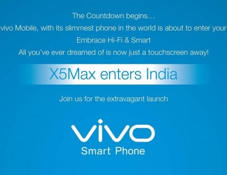 Chinese smartphone maker Vivo Mobile set to enter India, to launch X5Max on Dec 15