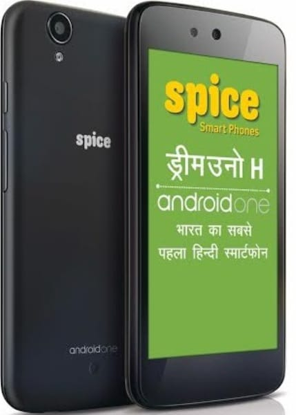 Spice Dream Uno H Android One smartphone with Hindi language support launched in India, priced at Rs 6,499: Specifications and features