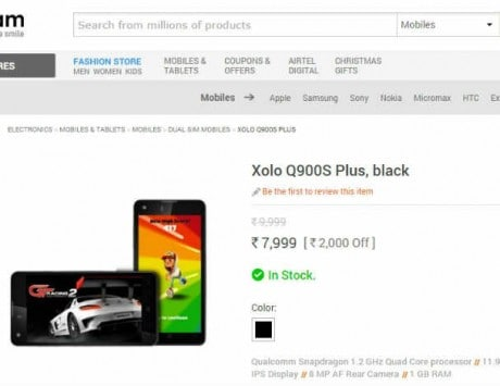 Xolo Q900s Plus available online for Rs 7,999: Specifications and features