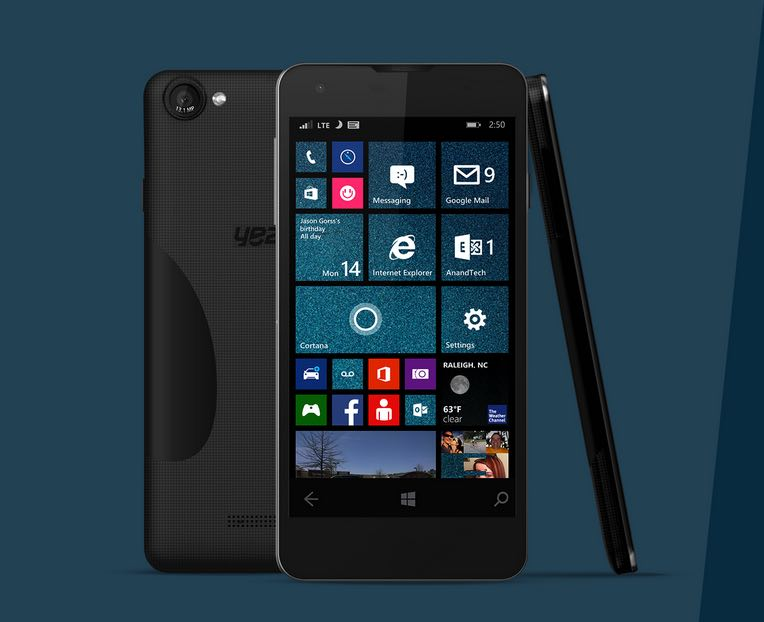 CES 2015 Live: Yezz Mobile launches Billy 5S LTE Windows Phone 8.1 smartphone