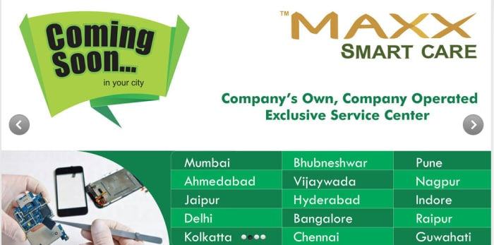 Domestic handset maker Maxx plans 100 smartcare centres to beef up after-sales service