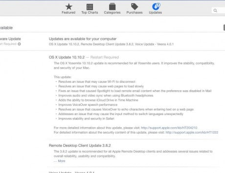 Apple releases OS X Yosemite 10.10.2 software update, fixes the annoying Wi-Fi drop issue