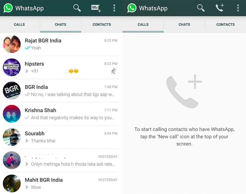 how to make a voice call on whatsapp