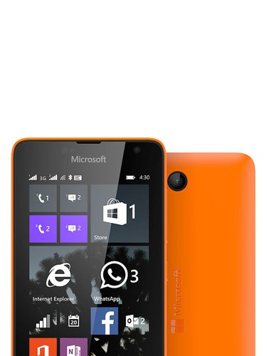 Microsoft Lumia 430 Front and Back