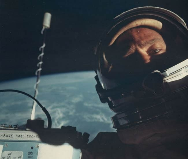 First 'space selfie' by NASA astronaut Buzz Aldrin sells for nearly £6,000 at auction