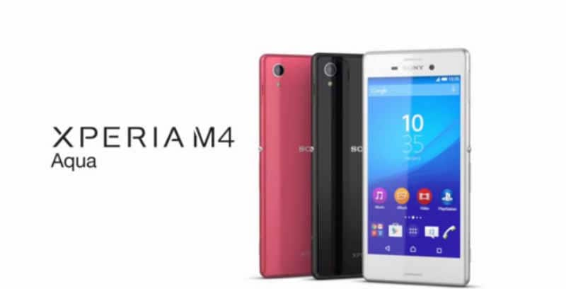 check out 2bb54 ce33c Sony Xperia M4 Aqua mid-range waterproof and dust-proof smartphone ...