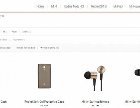 Xiaomi begins selling accessories on its own website in India