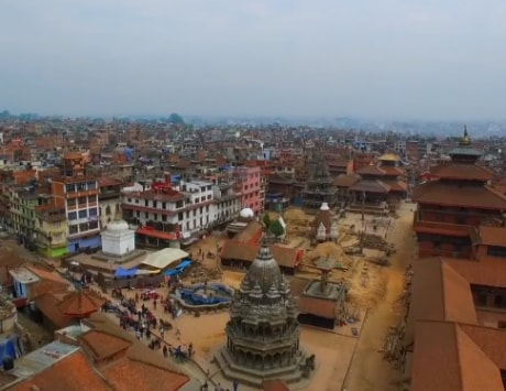 Raw drone footage shows 'devastated' Nepal after the earthquake [video]