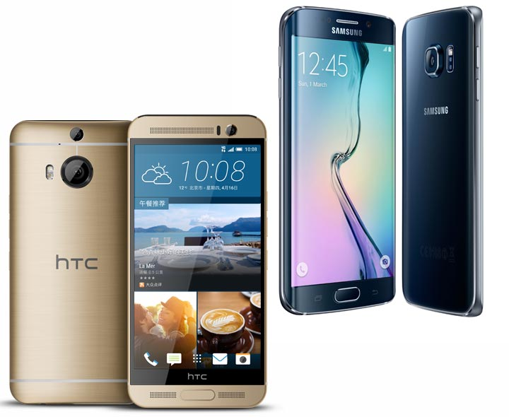 HTC One M9+ vs Galaxy S6 Edge Specifications, features compared
