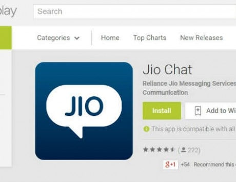 Reliance Jio launches instant messaging application Jio Chat on iOS and Android