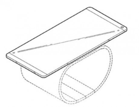 Design patent hints at a LG phone-smartwatch hybrid with a bendable display
