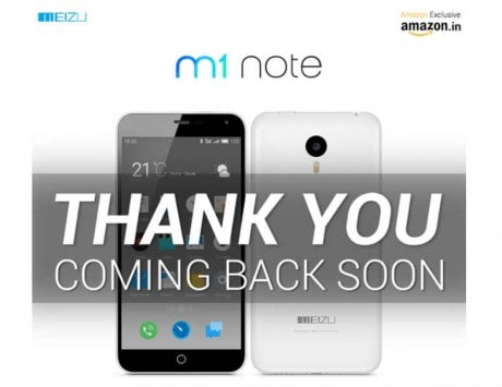 4,000 Meizu M1 Note units sold out in minutes on Amazon India