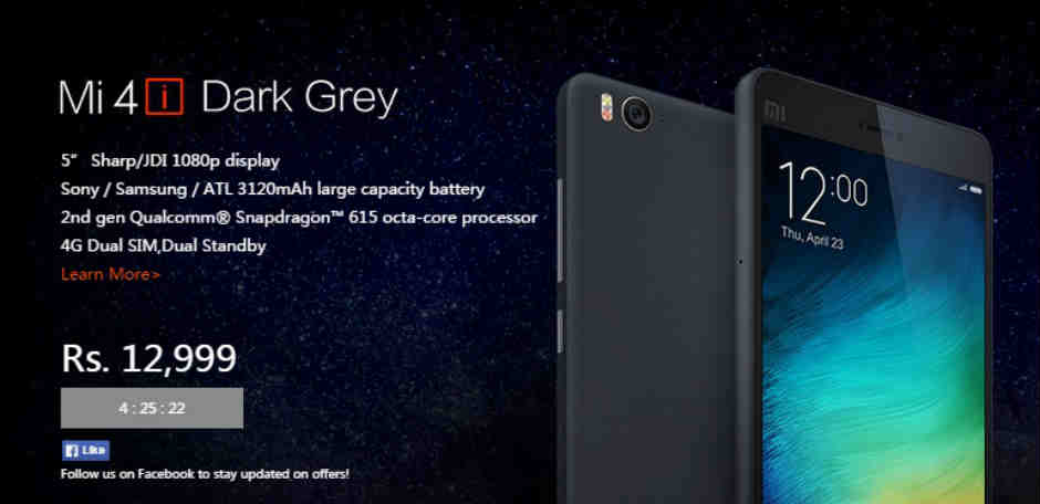Xiaomi Mi 4i dark grey variant to go on sale for the first