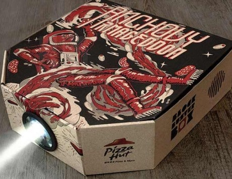 Pizza Hut's crazy pizza box doubles up as a projector!