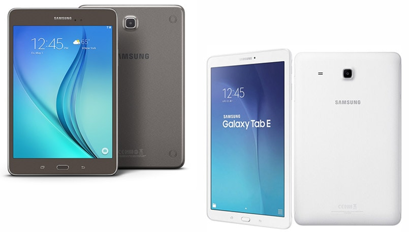 Samsung launches 2 voice-calling tablets in India, Galaxy Tab A and Galaxy Tab E: Price, specifications, features