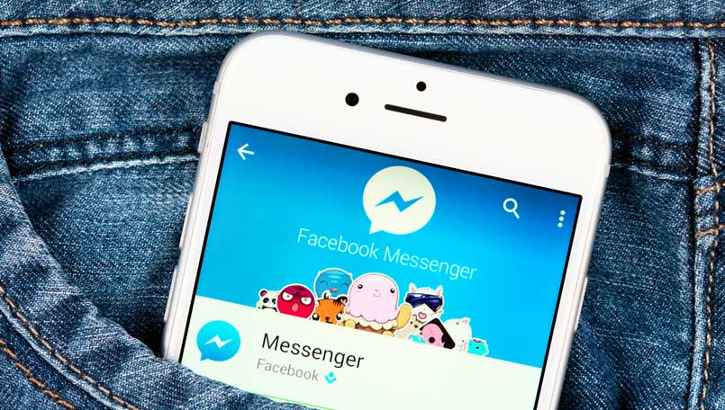 Facebook Messenger Stock Image